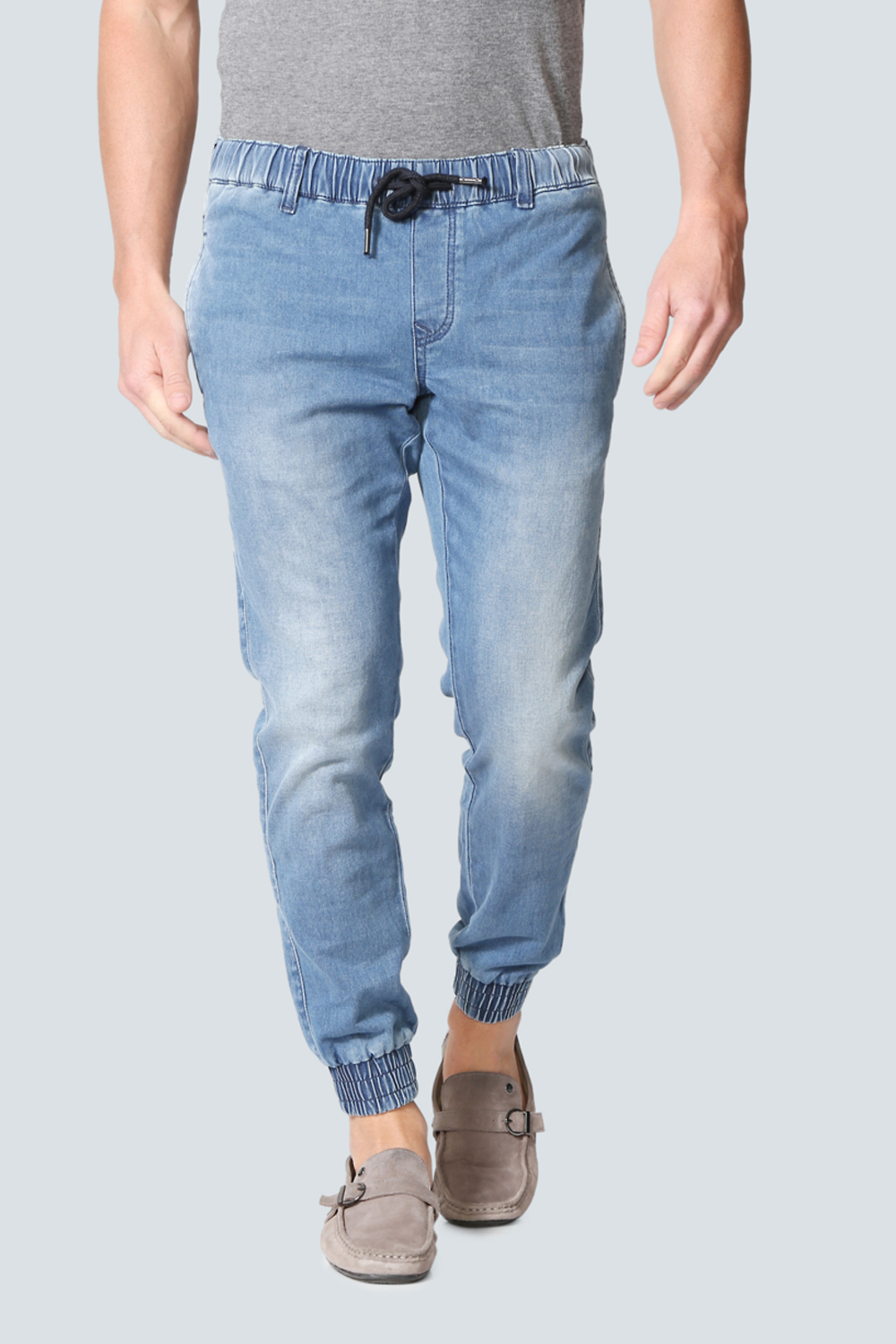 pretty nice e0adf 516f8 LP Jeans Jeans, Louis Philippe Blue Jogger Jeans for Men at  Louisphilippe.com
