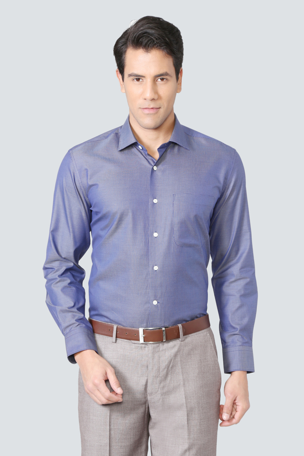 c13217d98a5b6f Louis Philippe Luxure Shirts, Louis Philippe Blue Shirt for Men at  Louisphilippe.com
