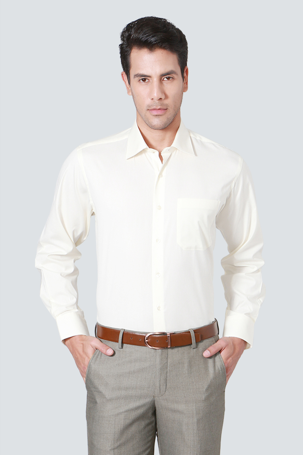 352886bcb3 Louis Philippe Shirts, Louis Philippe Cream Shirt for Men at Louisphilippe .com