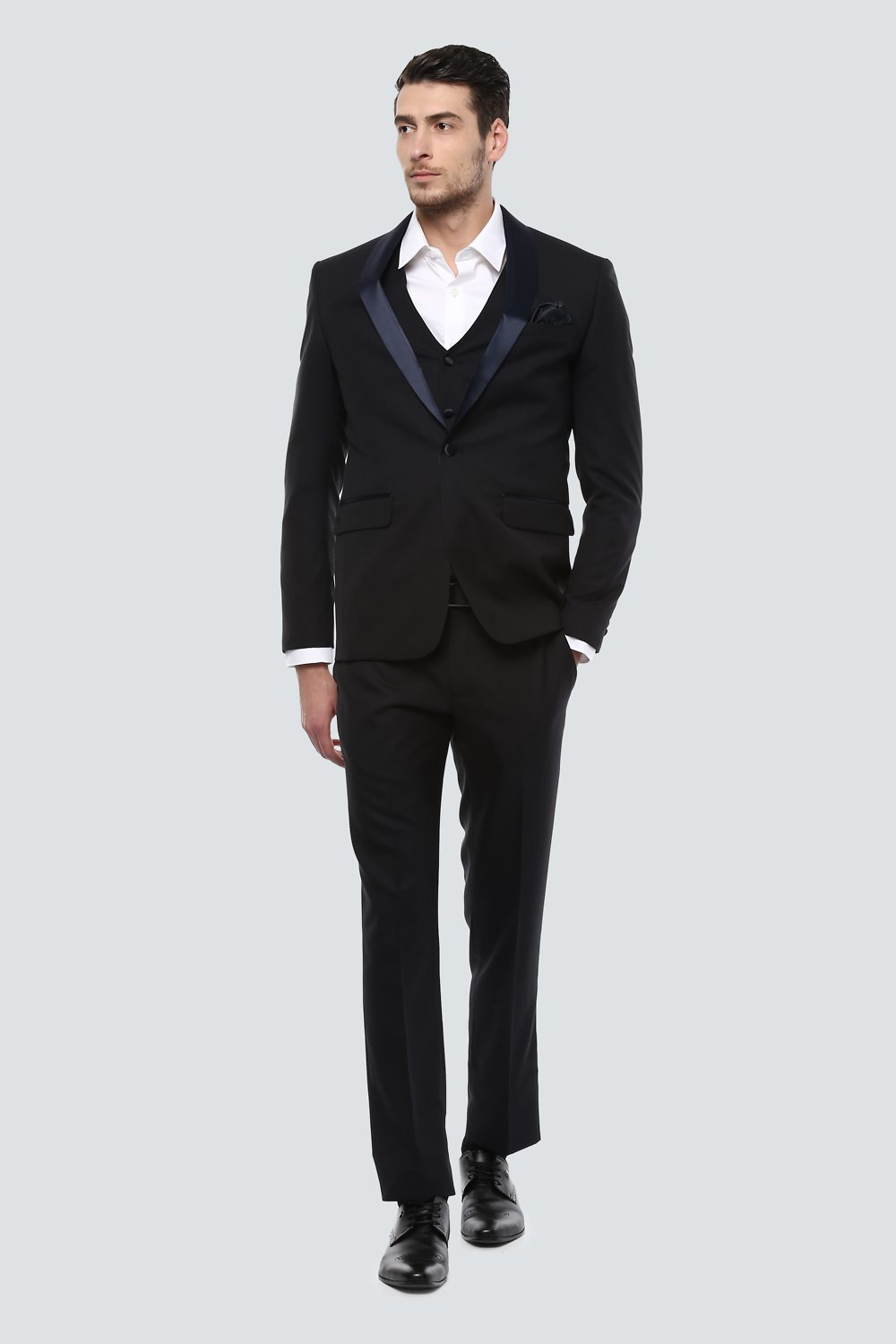 cc41f4db7639 Louis Philippe Suits & Blazers, Louis Philippe Navy Three Piece Suit for  Men at Louisphilippe.com