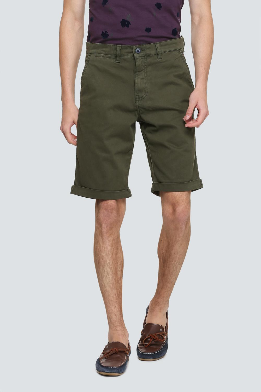 35e8a1f13ab2 LP Jeans Shorts, Louis Philippe Olive Shorts for Men at Louisphilippe.com