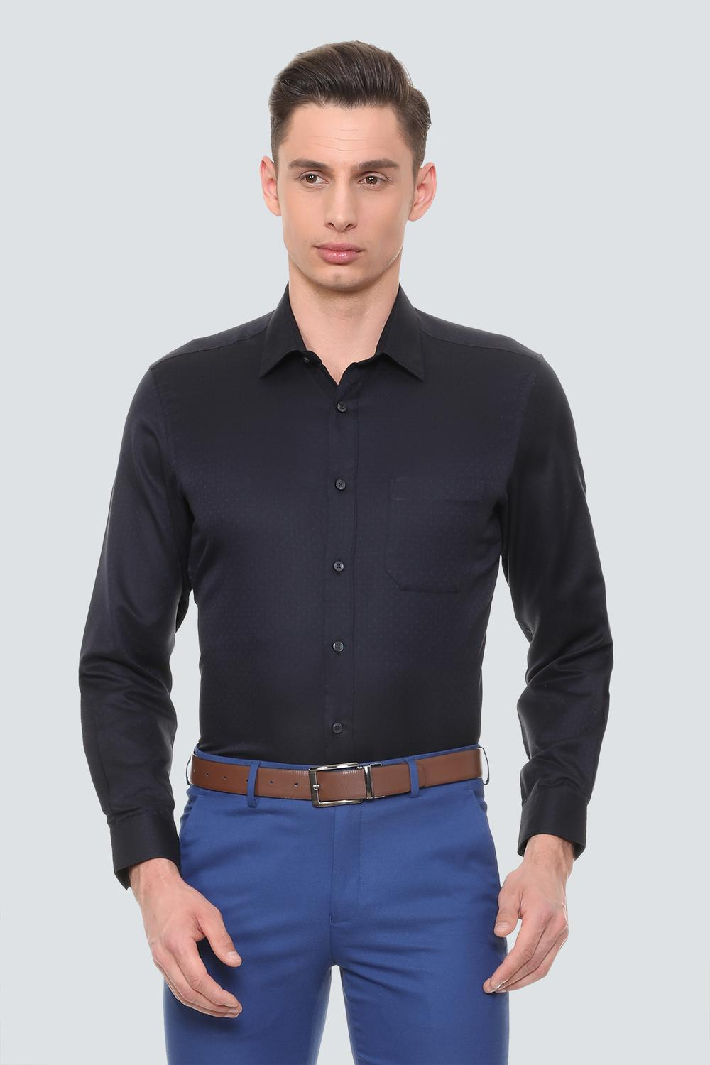 ca8cac6704 Louis Philippe Shirts, Louis Philippe Black Shirt for Men at Louisphilippe .com