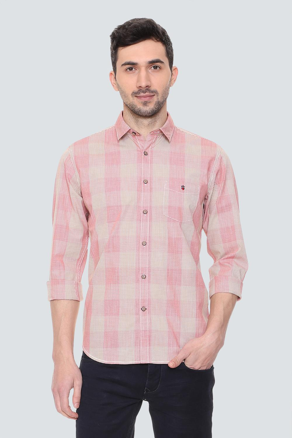 72545d9bf1 LP Shirts, Louis Philippe Pink Shirt for Men at Louisphilippe.com