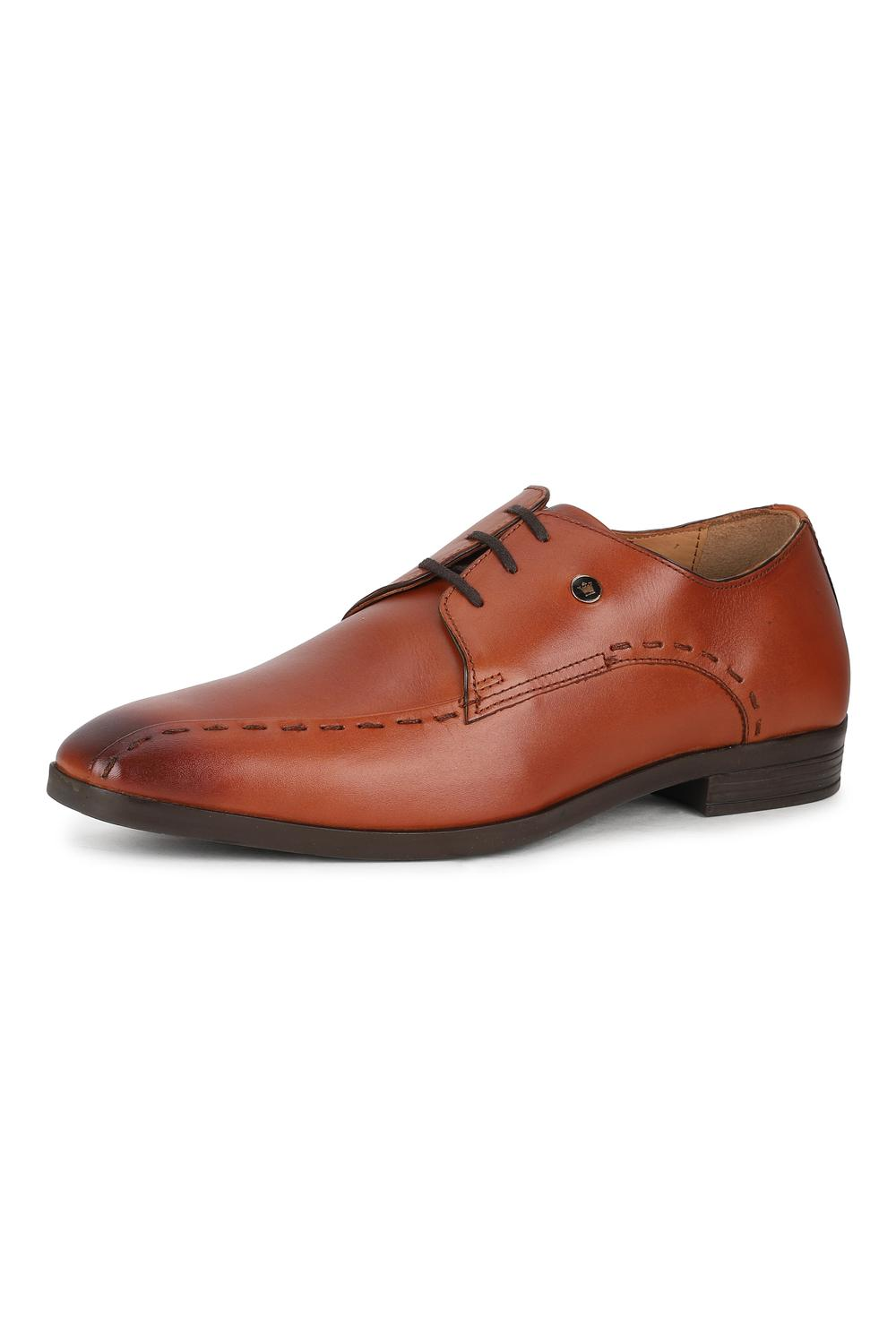 Louis Philippe Brown Lace Up Shoes