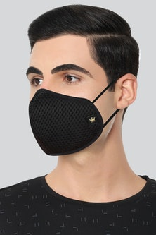 Louis Philippe Black 7 Layer Pack of 2 Fabric Mask...