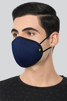 Louis Philippe Assorted 7 Layer Pack of 2 Fabric Mask...